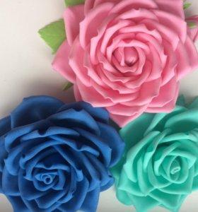 Цветы на заколки, ободки,резинки
