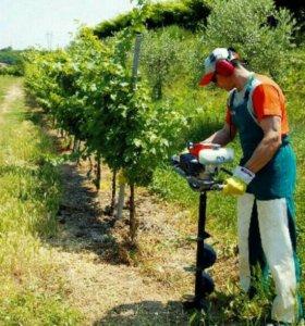 Услуги мотобура для земляных работ