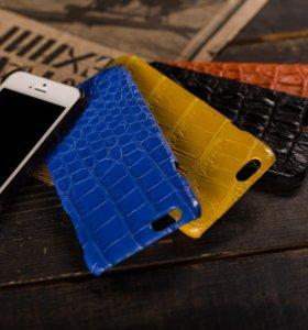 Чехлы-бамперы на iPhone и Samsung из крокодила