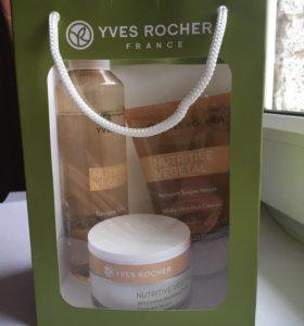 тоник, гель для умывания и крем от yves rocher