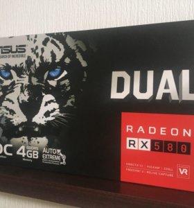 Видеокарта asus Radeon RX580 OC 4gb