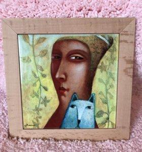Картина на керамике, П. Николаев