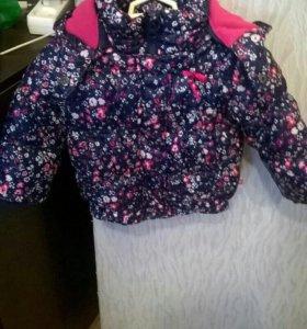 Курточка на девочку р.80
