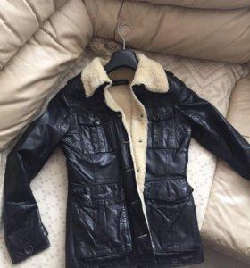 куртка женская меховая , натуральная кожа и мех,