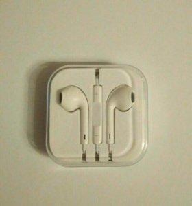 Копия наушников apple earpods, с гарнитурой