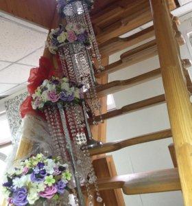 цветы на стол( свадьба)