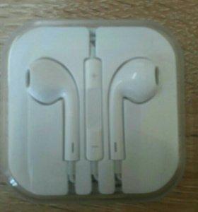 Оригинальные наушники apple earpods, с гарнитурой