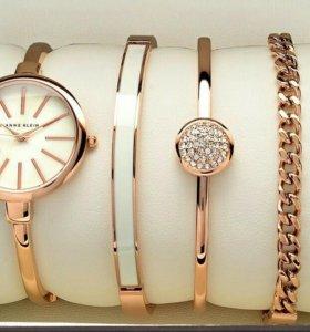 Женские часы Anne klein + набор помад Kylie