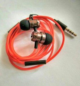 Новые вакуумные наушники Turbo jam v3 3.5мм с микр