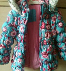Зимняя куртка для девочки 2-3 лет