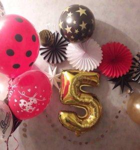 Набор красочного декора, без воздушных шаров