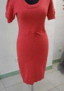 Караловое тёплое платье 48р
