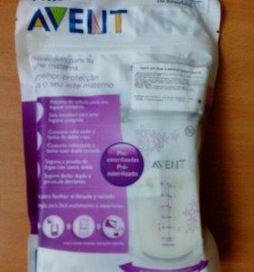 Пакеты Avent для хранения грудного молока