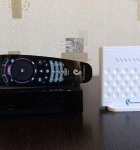 Тв-приставка и wi-fi роутер Ростелеком