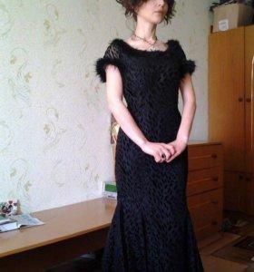 Платье  вечернее чёрное 44-46