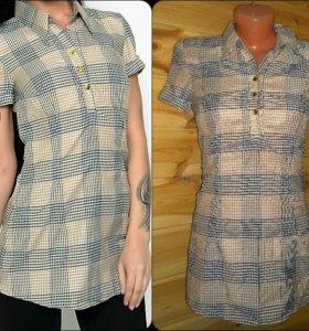 блузка-рубашка бежевого цвета