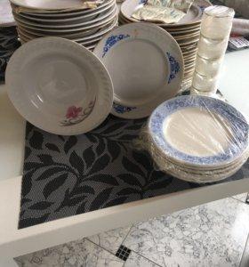 Тарелки ,рюмки,стаканы