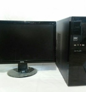 Игровой компьютер MSI с монитором