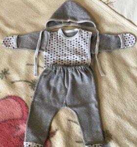 Детский костюм (ползунки/распашонка/чепчик)