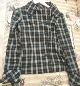 Блузка рубашка для офиса р-р 44