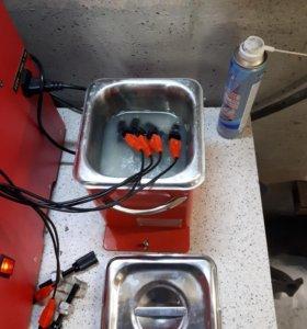 Промывка бензиновых форсунок со снятием и без.