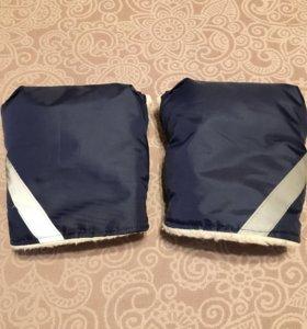 Муфта-варежки на коляску и санки.