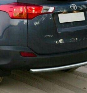Защита заднего бампера Toyota RAV 4 2013-2015 г.в