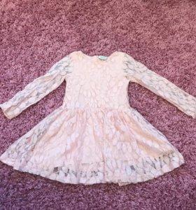 Гипюровое платье на девочку 110-116(Турция)