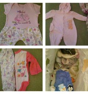 Детские вещи, одежда от 0 до 6 мес