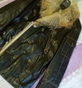 Кожанная куртка(состояние новой)