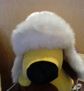 Зимняя шапка-ушанка для девочки.