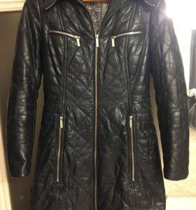 Зимнее пальто из нат. Кожи р.42
