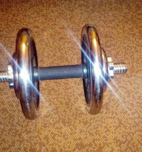 Гантеля kettler 14,5 кг разборная