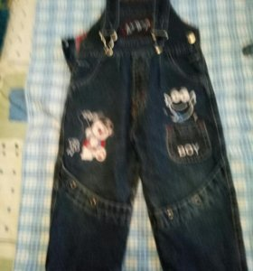 джинсы на лямках