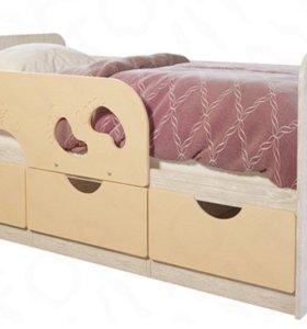 Детская кровать Минима Лего мдф Цвет: Крем-брюле