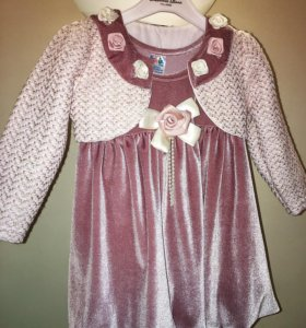 Платье с болеро на 1-1,5 года