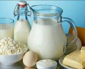 Деревенский творог, сметана, масло, молоко, яйцо.