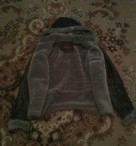 Продам женскую, зимнюю, кожаную куртку