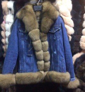 Куртка джинсовая с натуральным мехом