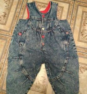 Комбинезон джинсовый рост 86 см