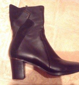 Новые осенние кожаные сапоги
