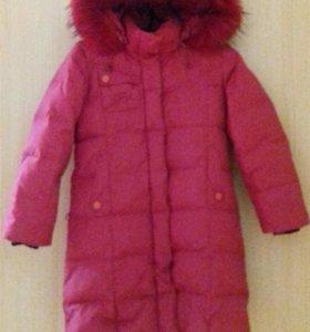 Пальто-пуховик для девочки 123-128(8-9)лет