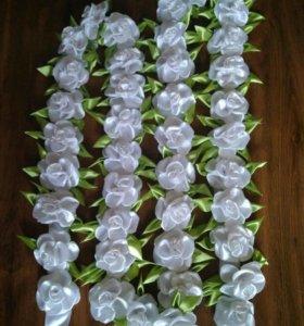 Гирлянда из цветов на свадебный стол