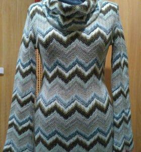 Платье трикотажное шерстяное