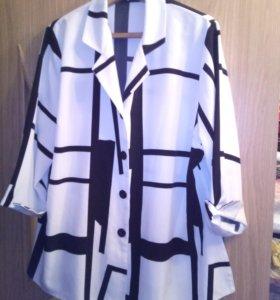 Кардиган блуза 52-54 размер