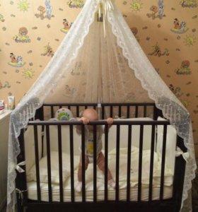 Продам балдахин на детскую кроватку с держателем