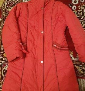 Пальто куртка подростковое зимнее