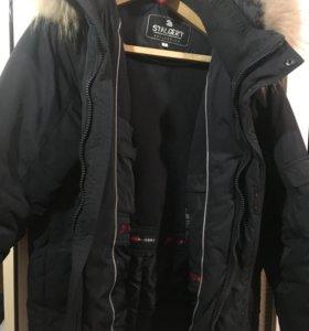 Зимняя куртка STALGERT с натуральным мехом.