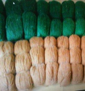 Пряжа с пухом для ручного вязания