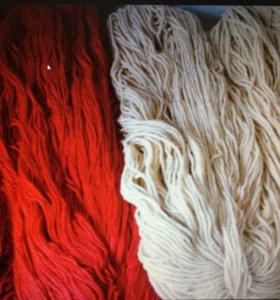 Пряжа для ручного вязания шерстяная